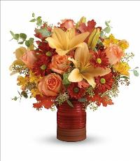 Harvest Crock Bouquet by McAdams Floral, your Victoria, Texas (TX) Florist