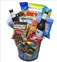 Blue Jean Beer Basket by McAdams Floral, your Victoria, Texas (TX) Florist
