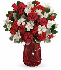 Red Haute Bouquet by McAdams Floral, your Victoria, Texas (TX) Florist