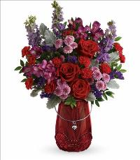 Delicate Heart Bouquet by McAdams Floral, your Victoria, Texas (TX) Florist