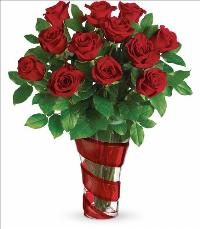 Dancing in Roses Bouquet by McAdams Floral, your Victoria, Texas (TX) Florist