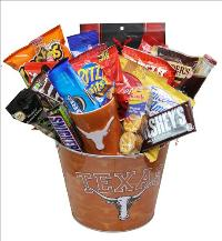 Texas University Snack Basket by McAdams Floral, your Victoria, Texas (TX) Florist