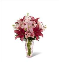 Sophisticated Pink Lily Bouquet by McAdams Floral, your Victoria, Texas (TX) Florist