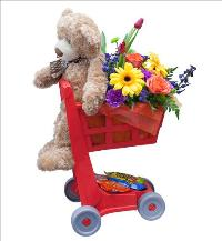 Grocery Cart Arrangement for Kids by McAdams Floral, your Victoria, Texas (TX) Florist