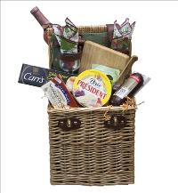 Wine Picnic Basket by McAdams Floral, your Victoria, Texas (TX) Florist