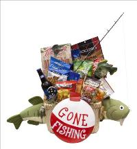 Gone Fishing Beer Basket by McAdams Floral, your Victoria, Texas (TX) Florist