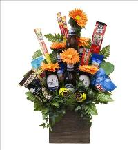 Beer & Snacks Silk Flower Bouquet by McAdams Floral, your Victoria, Texas (TX) Florist