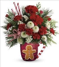 Send A Hug Winter Sips Bouquet by McAdams Floral, your Victoria, Texas (TX) Florist