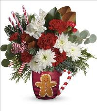 Send A Hug Gingerbread Greetings Bouquet by McAdams Floral, your Victoria, Texas (TX) Florist