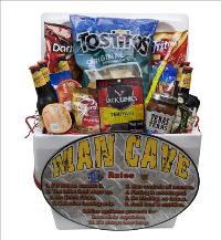 MAN CAVE RULES Beer Basket by McAdams Floral, your Victoria, Texas (TX) Florist