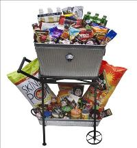 Food Cart Full of Snacks and Beer by McAdams Floral, your Victoria, Texas (TX) Florist