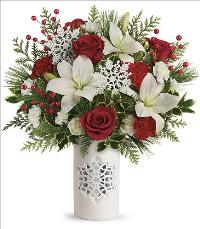 Festive Flurries Bouquet Deluxe by McAdams Floral, your Victoria, Texas (TX) Florist