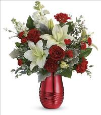 Radiantly Rouge Bouquet by McAdams Floral, your Victoria, Texas (TX) Florist