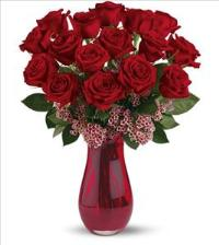 16 Red Rose Passion Bouquet by McAdams Floral, your Victoria, Texas (TX) Florist