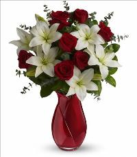 Look of Love Bouquet Valentines by McAdams Floral, your Victoria, Texas (TX) Florist