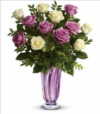 Wrapped In LavenderRose Bouquet Valentines by McAdams Floral, your Victoria, Texas (TX) Florist