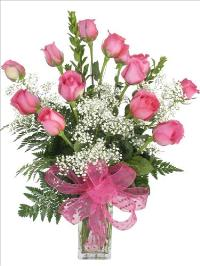 McAdams Princes Pink Rose Bouquet Valentines by McAdams Floral, your Victoria, Texas (TX) Florist