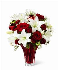 The Holiday Wishes Bouquet by McAdams Floral, your Victoria, Texas (TX) Florist