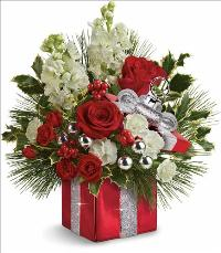 Wrapped In Joy Bouquet by McAdams Floral, your Victoria, Texas (TX) Florist