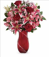 Wrapped in Passion Bouquet by McAdams Floral, your Victoria, Texas (TX) Florist
