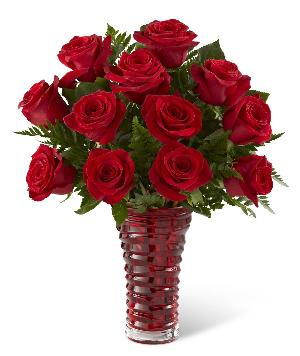 Love and Red Roses Bouquet Standard by McAdams Floral, your Victoria, Texas (TX) Florist