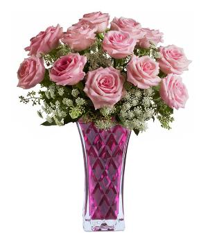 Vintage Pink Roses Bouquet by McAdams Floral, your Victoria, Texas (TX) Florist