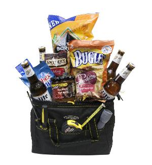 Tool Bag Beer Basket by McAdams Floral, your Victoria, Texas (TX) Florist