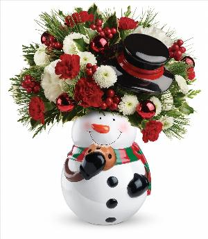 Sweet Snowman Bouquet by McAdams Floral, your Victoria, Texas (TX) Florist