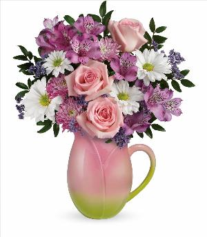 Spring Tulip Pitcher by McAdams Floral, your Victoria, Texas (TX) Florist