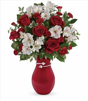 Pair Of Hearts Bouquet by McAdams Floral, your Victoria, Texas (TX) Florist