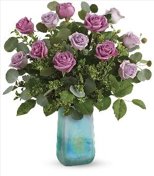 Watercolor Roses Bouquet by McAdams Floral, your Victoria, Texas (TX) Florist