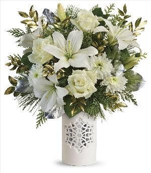 White Snowflake Bouquets Standard by McAdams Floral, your Victoria, Texas (TX) Florist