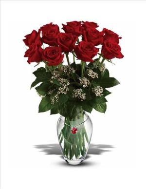 Ruby Heart Bouquet by McAdams Floral, your Victoria, Texas (TX) Florist