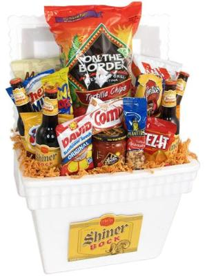 Texas Shiner Beer Basket by McAdams Floral, your Victoria, Texas (TX) Florist