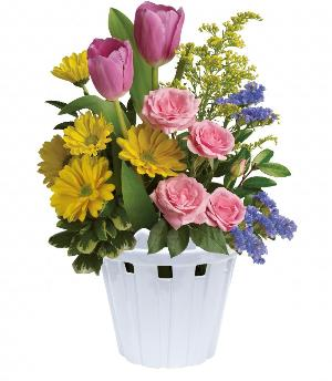Garden Picket Fence Bouquet by McAdams Floral, your Victoria, Texas (TX) Florist