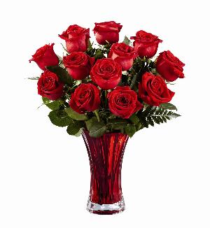 In Love with Red Roses Bouquet by McAdams Floral, your Victoria, Texas (TX) Florist