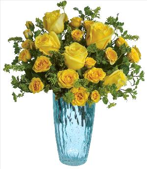 The Warmth of Love Rose Bouquet by McAdams Floral, your Victoria, Texas (TX) Florist