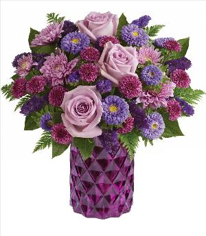 Relaxing Lavender Bouquet Valentines by McAdams Floral, your Victoria, Texas (TX) Florist