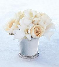 White Mint Julep Cup by McAdams Floral, your Victoria, Texas (TX) Florist