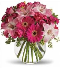 A Little Pink Me Up Bouquet by McAdams Floral, your Victoria, Texas (TX) Florist
