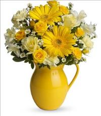 Telefloras Sunny Day Pitcher of Cheer by McAdams Floral, your Victoria, Texas (TX) Florist