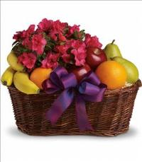 Fruits and Blooms Basket by McAdams Floral, your Victoria, Texas (TX) Florist