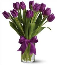 Passionate Purple Tulips by McAdams Floral, your Victoria, Texas (TX) Florist