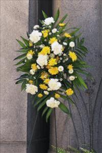 Yellow & White Spray by McAdams Floral, your Victoria, Texas (TX) Florist