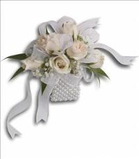 White Whisper Wristlet by McAdams Floral, your Victoria, Texas (TX) Florist
