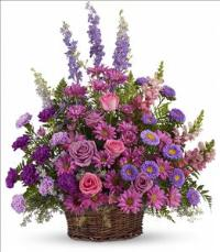 Gracious Lavender Basket by McAdams Floral, your Victoria, Texas (TX) Florist