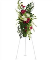 Gerberas and Palms Spray by McAdams Floral, your Victoria, Texas (TX) Florist
