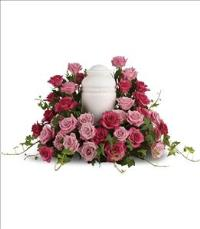 Bed of Pink Roses by McAdams Floral, your Victoria, Texas (TX) Florist