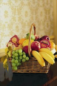 Cheese, Crackers & Fruit Basket by McAdams Floral, your Victoria, Texas (TX) Florist