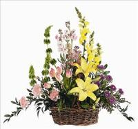 Spring Flowers in Basket by McAdams Floral, your Victoria, Texas (TX) Florist